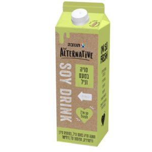 חלב הומוגני סויה וניל